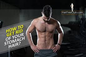 get rid of stomach hair without shaving