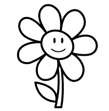 flower clipart black and white free 3