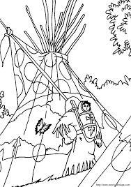 Kleurplaat Met Indianenbaby Op Draagplank Kleurplaten Thema