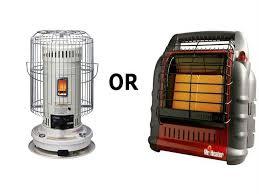 kerosene or propane heater for