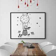 Home Decor The Little Prince Le Petit Prince Wall Art Decal Wall Sticker Black 42cm X 82cm Wish