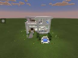 modern glass house build minecraft