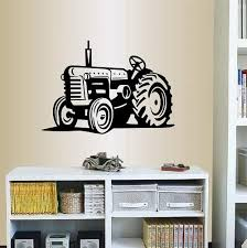 Amazon Com Wall Vinyl Decal Home Decor Art Sticker Tractor Loader Bulldozer Farm Kids Nursery Room Removable Stylish Mural Unique Design Home Kitchen