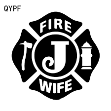 Qypf 15 8cm 15 8cm Solemnly Memorial To Fire Wife In Arms Fireman Personality Design Vinyl Car Sticker Exquisite Decal C18 0915 Car Stickers Aliexpress