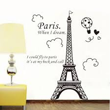 Personalized Eiffel Tower Wall Decal Sticker Amazon Walmart Design Removable Large Hobby Lobby Vamosrayos