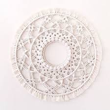 round shape boho crochet wall hanging