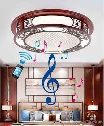 2020 led ceiling fans wooden light
