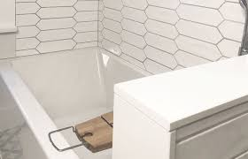Picket Fence Elongated Hexagonal Ceramic Wall Tile In Brilliant White