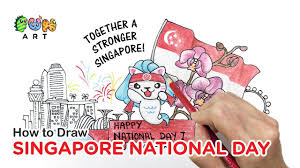 how to draw singapore national day