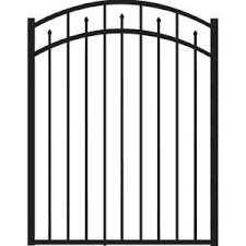 Slipfence 4 Ft X 6 Ft Wood And Aluminum Fence Gate Sf2 Gk100 The Home Depot Aluminum Fence Gate Metal Fence Gates Fence Gate