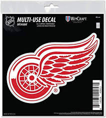 Amazon Com Detroit Red Wings 6 Decal Reusable Die Cut Logo Style Vinyl Auto Home Hockey Sports Outdoors