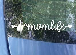 Amazon Com Original Mom Life Heartbeat Car Decal Sticker 7 5 X2 Color Options Handmade