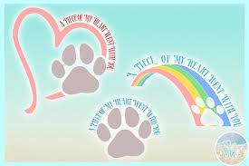 pet memorial quote rainbow bridge svg and dxf files