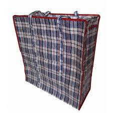 jumbo zip storage bag checd print