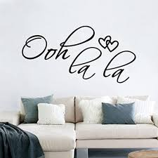 Amazon Com Wall Stickers Decals Ohh Lala Home Decor 19 99 8inch Home Kitchen