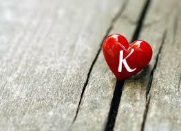 حرف K في قلب صور مميزة