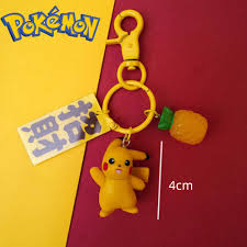Takara Tomy Pokemon GO Anime Sun and Moon Pikachu Keychain Action Figure  Model Collection Christmas Gifts Toys for Children 