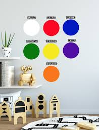 Dry Erase Days Of The Week Dot Wall Decals