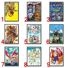 Anime Poster Digimon Adventure Coated Paper Poster Bar Cafe Restaurant Decorative Poster Wall Sticker 42 30cm Wish