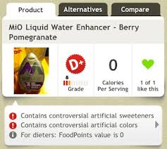 oh my mio water flavoring has nothing
