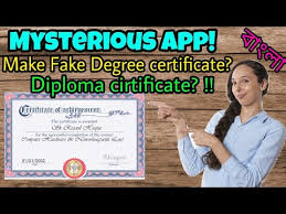create fake degree certificate or