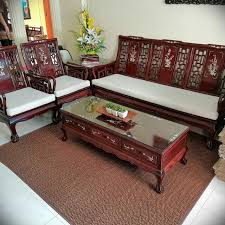 chinese wood sofa set