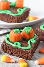 pumpkin patch halloween brownies