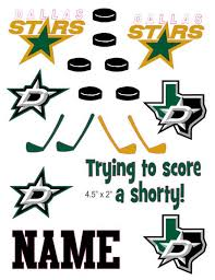 Dallas Stars Cranial Band Decoration From High Quality Vinyl