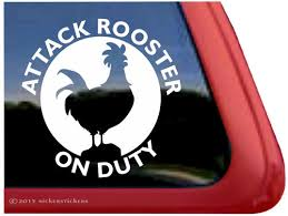 Rooster Decals Stickers Nickerstickers