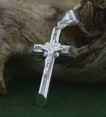sterling silver cross necklace silver