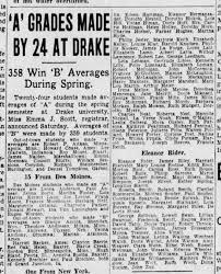 Maintains B average at Drake - Newspapers.com