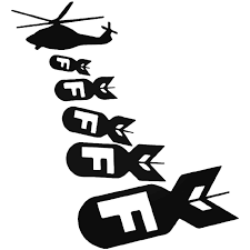 Helicopter F Bomb Nuke Vinyl Decal Sticker