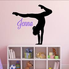 Personalized Gymnastics Vinyl Wall Decor Vinyl Written