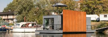 prefab houseboat in prague features a