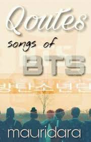 quotes songs of bts rahmah maulida wattpad