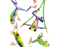 Frog Wall Decal Etsy