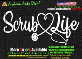 Scrub Life Nurse Doctor Medical Hospital Heart Car Window Vinyl Decal Sticker Ebay