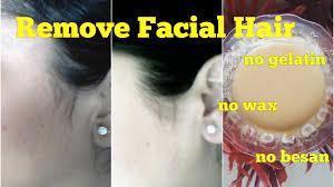 remove hair naturally at home