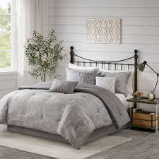 grey comforter sets king light set