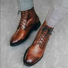 ankle boots for mens men brown leather