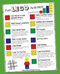 Free Lego Activities For Kids Poster