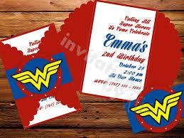 Invitaciones Mujer Maravilla Invitations By Aliz