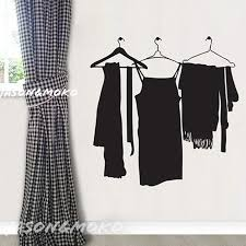 Hang Clothes Coat Hanger Rack Vinyl Wall Stickers Mural Decal Wallpape Home Decor