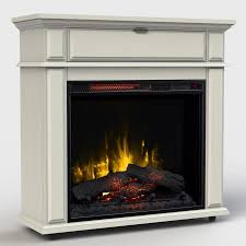 rolling electic fireplace mantle