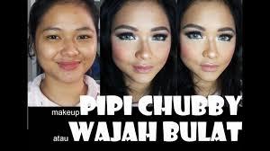 you cara makeup muka bulat saubhaya