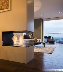 image of awesome two sided fireplace