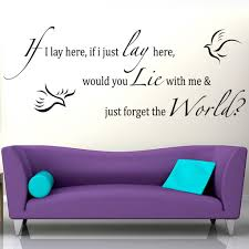If I Lay Here Doves Song Lyrics Wall Sticker Decal World Of Wall Stickers