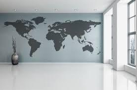 World Map Wall Decal Vinyl Wall Sticker Decals Home Decor Art Etsy Map Wall Decal World Map Wall Decal Wall Stickers Wallpaper