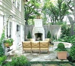 fireplace excellent backyard ideas