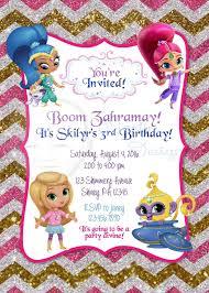 Shimmer And Shine Birthday Invitation Decoracion Fiesta